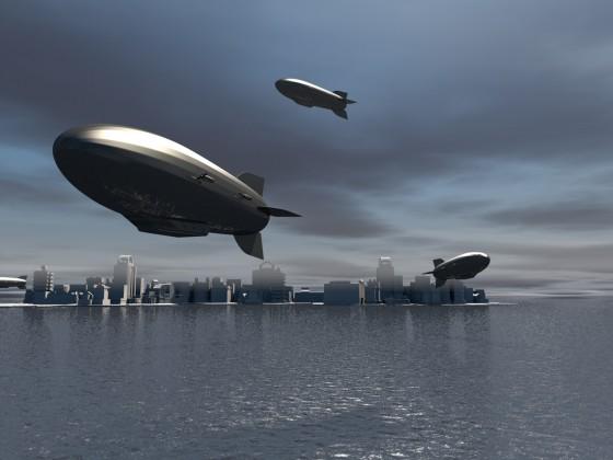 Luftschiffszene